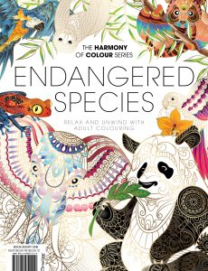 Colouring Book The Harmony Of Colour Series, Endangered Species – Book Eighty One 2021