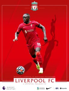 Liverpool FC Programmes – vs Crystal Palace – 18 September 2021